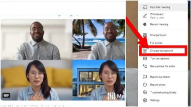 How to Change Google Meet Background? Steps to Customise Your Video Call Background in Latest Feature Similar to Zoom Meetings App