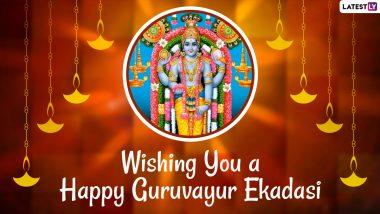 Guruvayur Ekadasi 2020 Wishes And HD Images: Lord Krishna WhatsApp Stickers, Facebook Greetings, Instagram Stories, Messages, GIFs & SMS to Send on Vrishchika Ekadasi