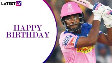 Sanju Samson Birthday Special: Quicks Facts to Know About the Rajasthan Royals & Team India Wicket-Keeper Batsman