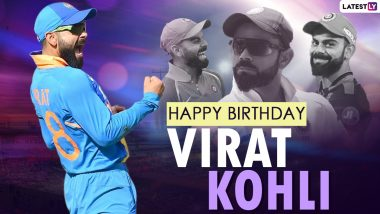 Virat Kohli Photos & HD Wallpapers for Free Download: Happy Birthday Kohli Greetings, HD Images in RCB and Indian Cricket Team Jersey and Positive Messages to Share Online