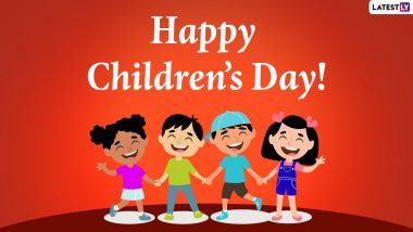 Happy Children's Day 2020 Wishes & Bal Diwas HD Images: WhatsApp Stickers, Facebook Messages, GIF Greetings & SMS to Celebrate Jawaharlal Nehru Birth Anniversary