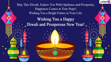 Diwali 2020 Wishes in English and Hindi: Lakshmi Pujan WhatsApp Stickers, Shubh Deepavali HD Images, SMS Greetings, GIF Messages and Quotes to Celebrate Badi Diwali