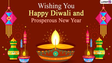 Happy Diwali and Prosperous New Year Images & HD Wallpapers for Free Download Online: Celebrate Lakshmi Pujan 2020 and Vikram Samvat 2077 With Beautiful WhatsApp Stickers and GIF Greetings