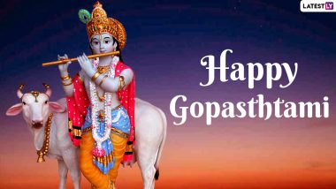 Gopashtami 2020 Wishes and HD Images: WhatsApp Stickers, GIF Greetings, Lord Krishna Facebook Photos to Send Greetings of The Cow Worshipping Festival