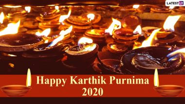 Kartika Purnima 2020 HD Images & Dev Deepavali Greetings: Send WhatsApp Stickers, Wallpapers, Facebook Status Pics with Diyas, Quotes, Messages & GIFs to Celebrate The Day