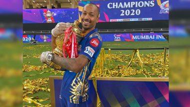 Hardik Pandya Dedicates Mumbai Indians' IPL 2020 Triumph to Son Agastya (View Post)