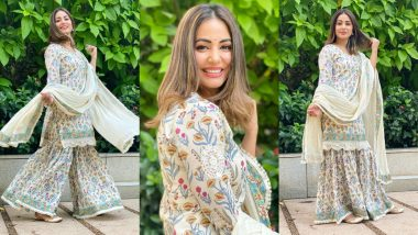 Hina Khan's Floral Sharara Set Is A Perfect Diwali Look To Ape This Festive Season (View Pics)
