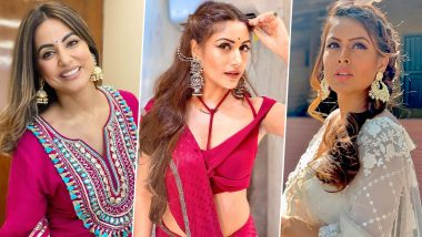 Diwali 2020: Hina Khan, Surbhi Chandna, Nia Sharma – TV Celeb Approved Earrings to Elevate Your Ethnic Game This Festive Season (View Pics)