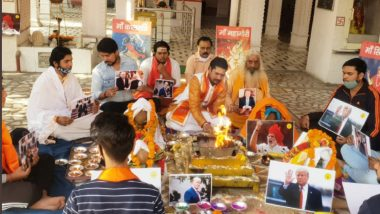 US Presidential Election 2020: Hindu Sena Holds Special Puja and Havan in Delhi For Donald Trump's Victory