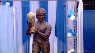 Diego Maradona Dies at 60: Kolkata Remembers 'God of Football' by Sharing Pics of His 2008 and 2017 Visit