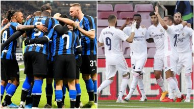 How To Watch Inter Milan Vs Real Madrid Uefa Champions League 2020 21 Live Streaming Online In India Get Free Live Telecast Of Group B Game Football Score Updates On Tv Latestly