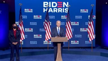 Joe Biden Victory Speech: 'I Pledge to Be a President Who Seeks Not to Divide, But to Unify' (Watch Video)