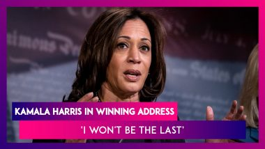 Kamala Harris' Winning Address: 'I May Be The First, But Won't Be The Last' Says First Woman Vice President-Elect, United States
