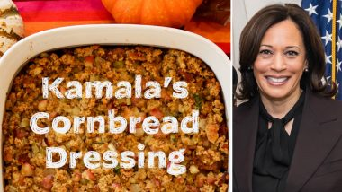 Kamala Harris Shares Recipe of Cornbread Dressing for Thanksgiving 2020, US VP Hopes It 'Brings You As Much Warmth As It Has Brought Me'