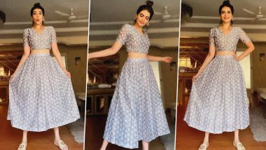 Karishma Tanna Is Tres Chic in a Rs.4,500 Grey Printed Co-Ord Set!