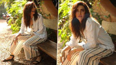 Karishma Tanna Has That Stripe Hype, Sunkissed, Gorgeous Smile Kinda Mood!