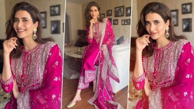 Karishma Tanna Is Festive Chic in Rani Pink, Her Pretty Style Is for Rs.28,999!