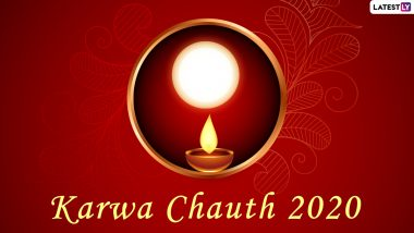 Karwa Chauth 2020 Moonrise Time in Mumbai, Delhi & Other Indian Cities: Know Chand Darshan and Puja Muhurat Time for Karva Chauth Vrat Arti to Break The Fast
