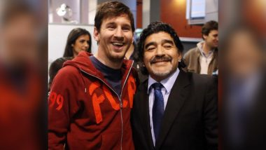 Lionel Messi Mourns Diego Maradona's Death, Says 'Will Keep All Beautiful Moments Lived With Him' (View Pics From Post)