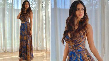 Malavika Mohanan Is Flirty Chic in a Saaksha and Kinni Printed Ensemble!
