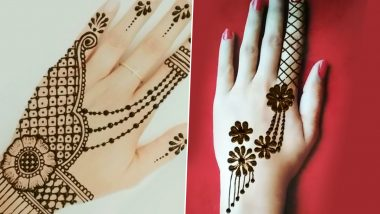 Chhath Puja 2020 Mehndi Designs & HD Images: Latest Henna Patterns and Arabic Mehendi Designs to Adorn Your Palms This Festive Season (Watch Videos)