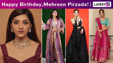 Mehreen Pirzada Birthday Special: Channelling That Happy Is the New Pretty, Charming and Cute Vibe With Her Minimalist Chic Style!