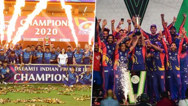IPL 2020 vs PSL 2020 Prize Money Comparison: Here's How Much Money Mumbai Indians & Karachi Kings Received After Winning Their Respective Titles