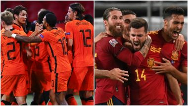 Netherlands vs Spain Live Streaming Online, International Friendly 2020: Get Match Free Telecast Time in IST and TV Channels to Watch in India