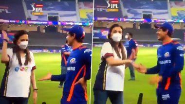 Unaware Nita Ambani Walks into Quinton de Kock and Nathan Coulter-Nile's Live TV Interview Post Mumbai Indians' IPL 2020 Title Win (Watch Viral Video)