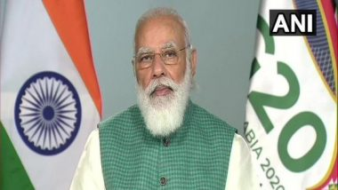 G20 Summit 2020: PM Narendra Modi Bats for International Solar Alliance, Says It Will Contribute to Reducing Carbon Footprint