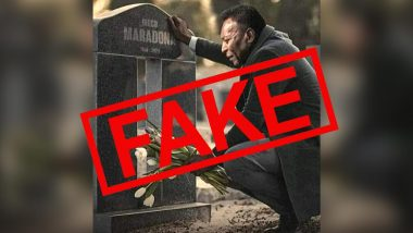Viral Photo Shows Pele Grieving at Diego Maradona's Grave, Know Truth Behind the Morphed Image