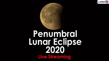 Penumbral Lunar Eclipse 2020 Live Streaming Video Online: Know How and When to Watch Upachaya Chandra Grahan Today