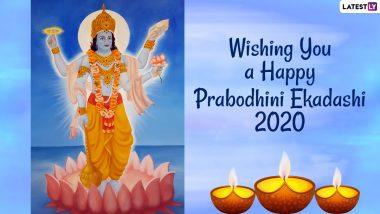 Prabodhini Ekadashi 2020 Wishes & Kartiki Ekadashi HD Images: WhatsApp Stickers, Facebook Greetings, Messages And SMS to Send to Those Observing Devutthana Ekadashi Vrat