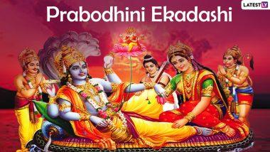 Prabodhini Ekadashi Vrat 2020 Date and Significance: Know Dev Uthani Ekadashi Vrat ka Mahatva (Importance) and Other Puja Rituals Dedicated to Lord Vishnu Festival