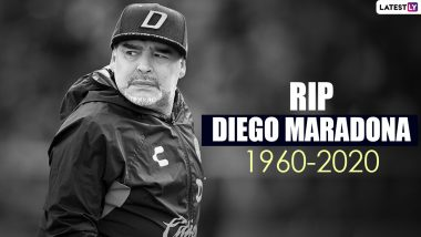 Diego Maradona Death: Argentinian Football Legend Dies of Heart Attack