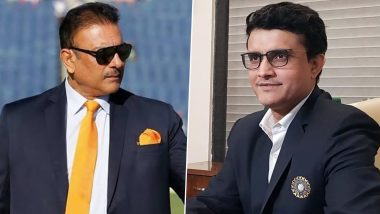 Ravi Shastri Sparks Controversy After Leaving Out BCCI President Sourav Ganguly From His Appreciation Post Over IPL 2020's Success; Twitterati Hits Out at Team India Head Coach