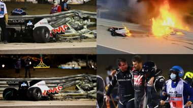 Halo Protects Romain Grosjean From Serious Injury After His Car Crashed in F1 Bahrain GP; Take a Look at 'What Is Halo' and Its Safety Functions