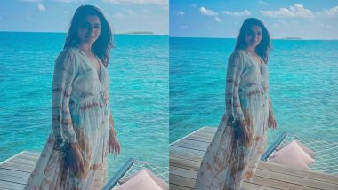 Samantha Akkineni Looks Beautiful in a Tie-Dye Dress As She Strikes a Pose Amid the Maldives Sea (View Pic)