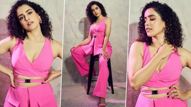 Sanya Malhotra Is Fiercely Chic and an Abundance of Sass in a Pink Pantsuit!