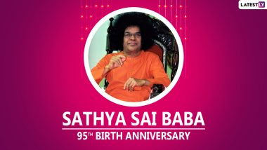 Sathya Sai Baba 95th Birth Anniversary Wishes & HD Images: WhatsApp Stickers, Facebook Greetings, Wallpapers, GIFs, Messages and SMS to Send on the Observance