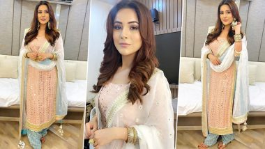 Karwa Chauth 2020: Shehnaaz Gill's Traditional Suit Should Be Your Go-To Outfit this Festive Season (View Pics)