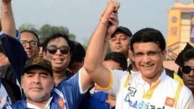 Diego Maradona Dies at 60: 'Mad Genius, Rest In Peace', Indian Sports Fraternity Led by Sourav Ganguly Pays Tribute to Football Legend