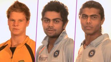 ICC Shares Video of Virat Kohli, Steve Smith, Ravindra Jadeja & Other Cricket Stars From ICC Under-19 Cricket World 2008