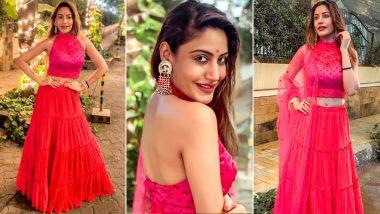 Yo or Hell No? Surbhi Chandna's Red Lehenga Choli for Diwali 2020 Celebration