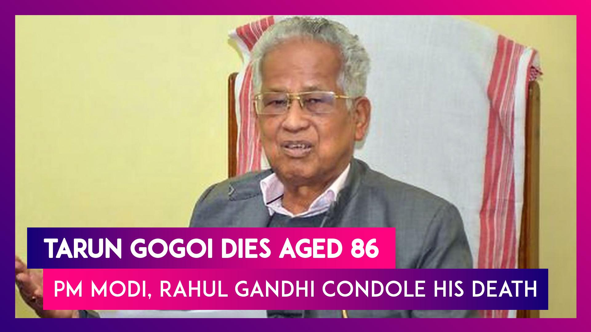 Tarun Gogoi, Former Assam CM Dies Aged 86; PM Modi, Rahul Gandhi Pay Tributes To Veteran Politician