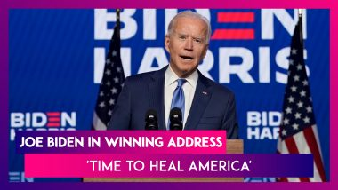 Joe Biden's Winning Address To Nation: 'Will Seek To Unite, Not Divide. Time To Heal America' Says President-Elect, United States