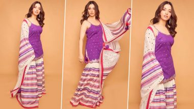 Tamannaah Bhatia's Sustainable, Vibrant and Timeless Sharara Is on Our Wish List!