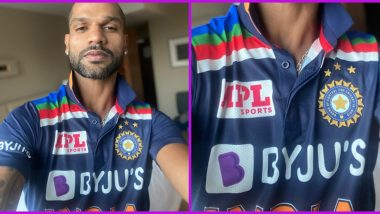 Team India New Jersey Leaves Fans Upset, Too Many Sponsor Logos on Retro Kit Irks Netizens (See Funny Memes)