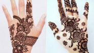 Quick 5-Minute Mehndi Designs for Tulsi Vivah 2020: Simple Fingerstyle Henna Designs and Easy Tricks to Apply Mehendi on Tulasi Marriage Occasion