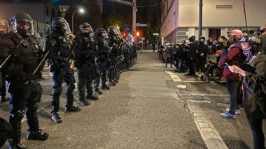 US Election 2020 Results Delayed: Amid Protests, Oregon Deploys National Guard in Portland to Control Post-Poll Riots